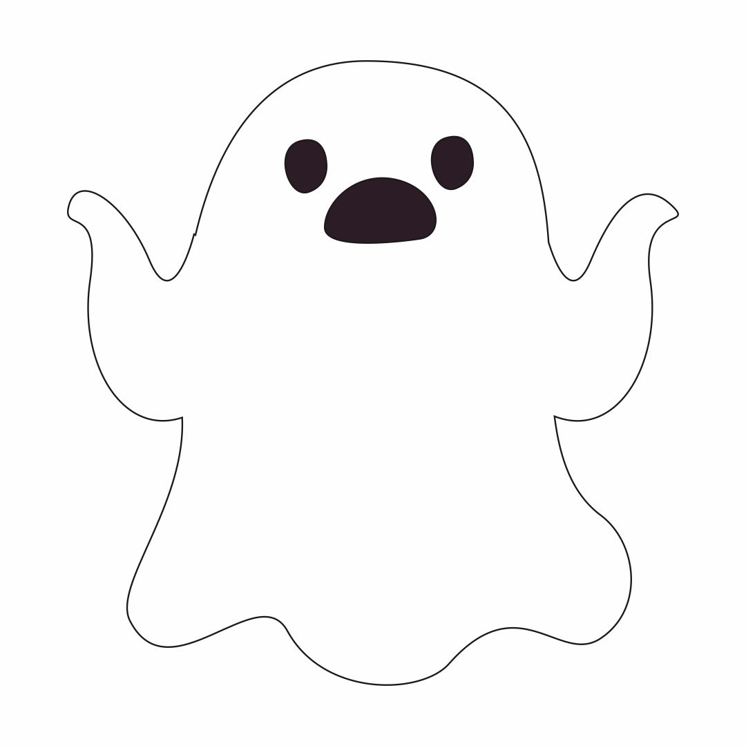 Cute Ghost Face Templates