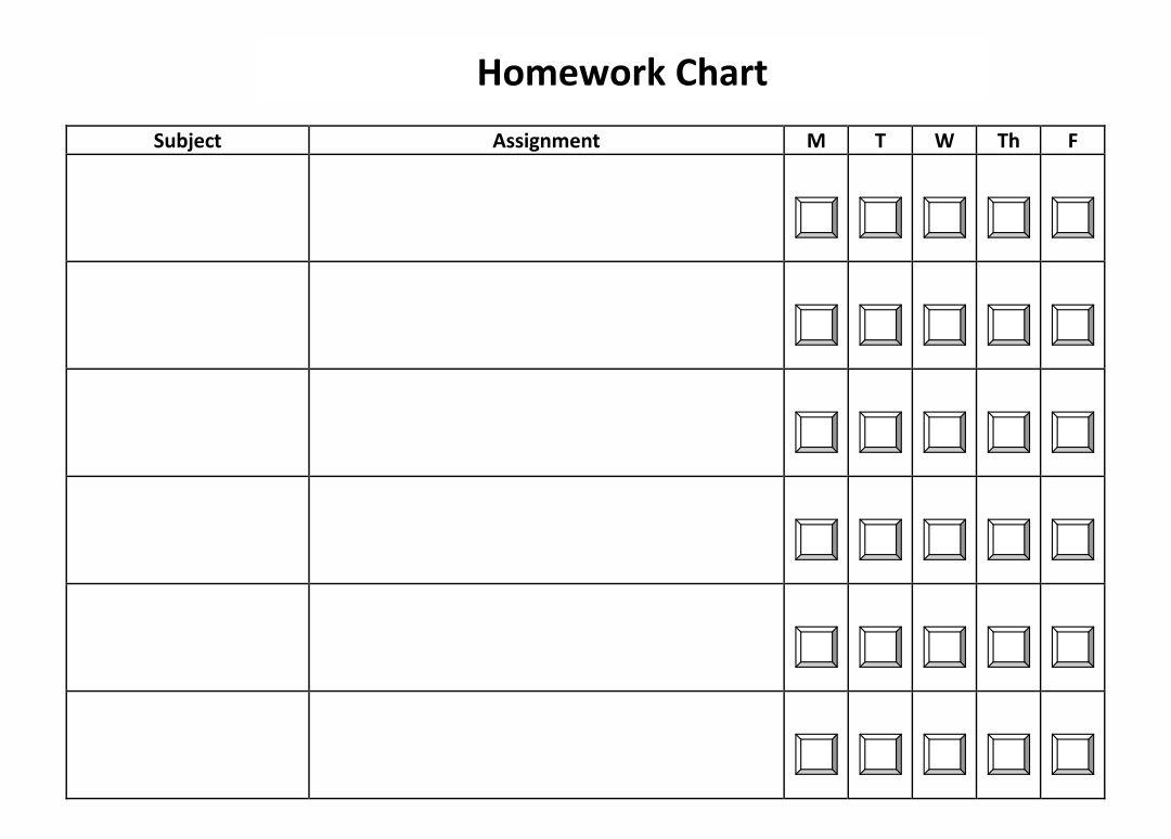 Daily Homework Checklist Printables