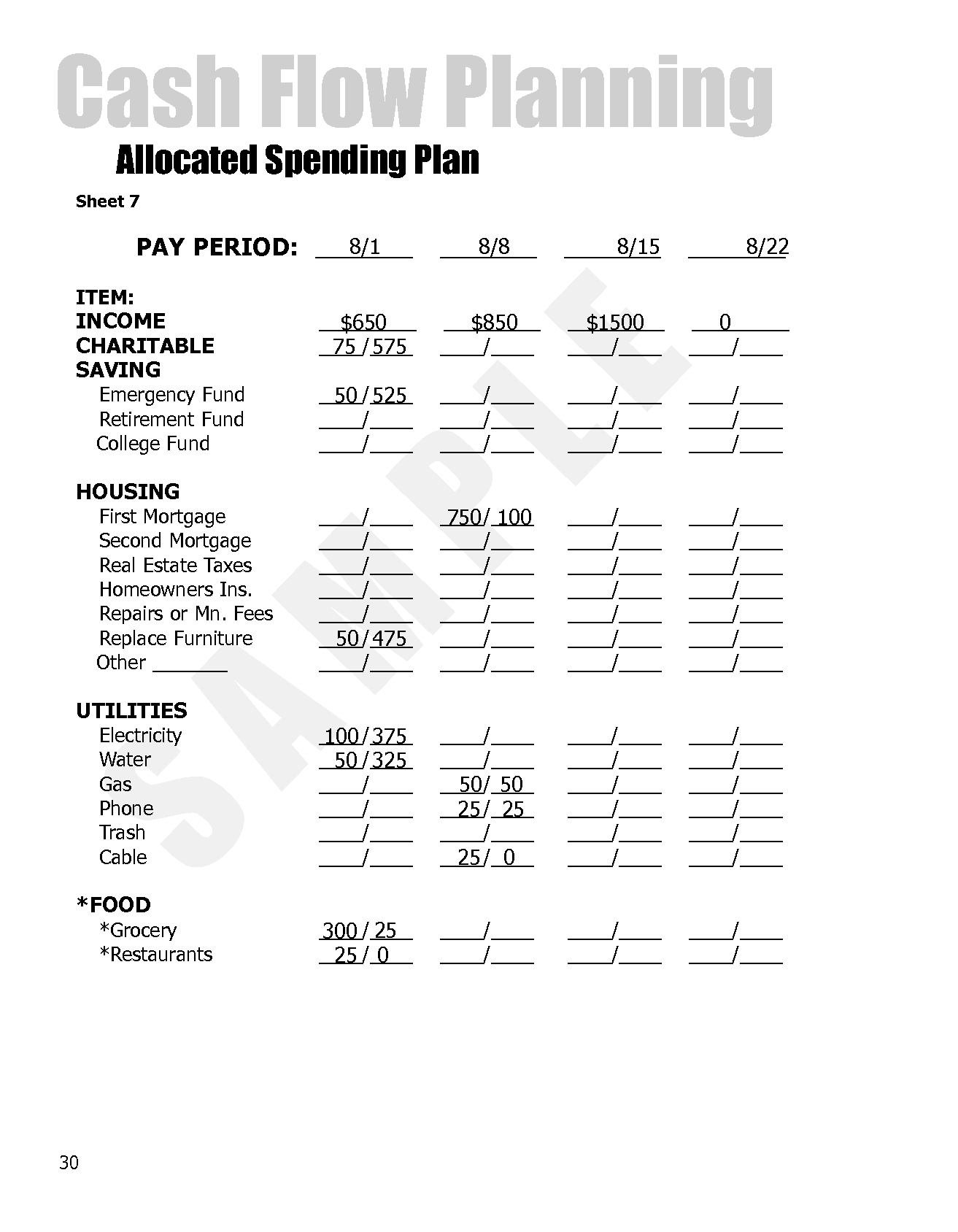 5 Best Images of Dave Ramsey Printable Budget Form - Free ...