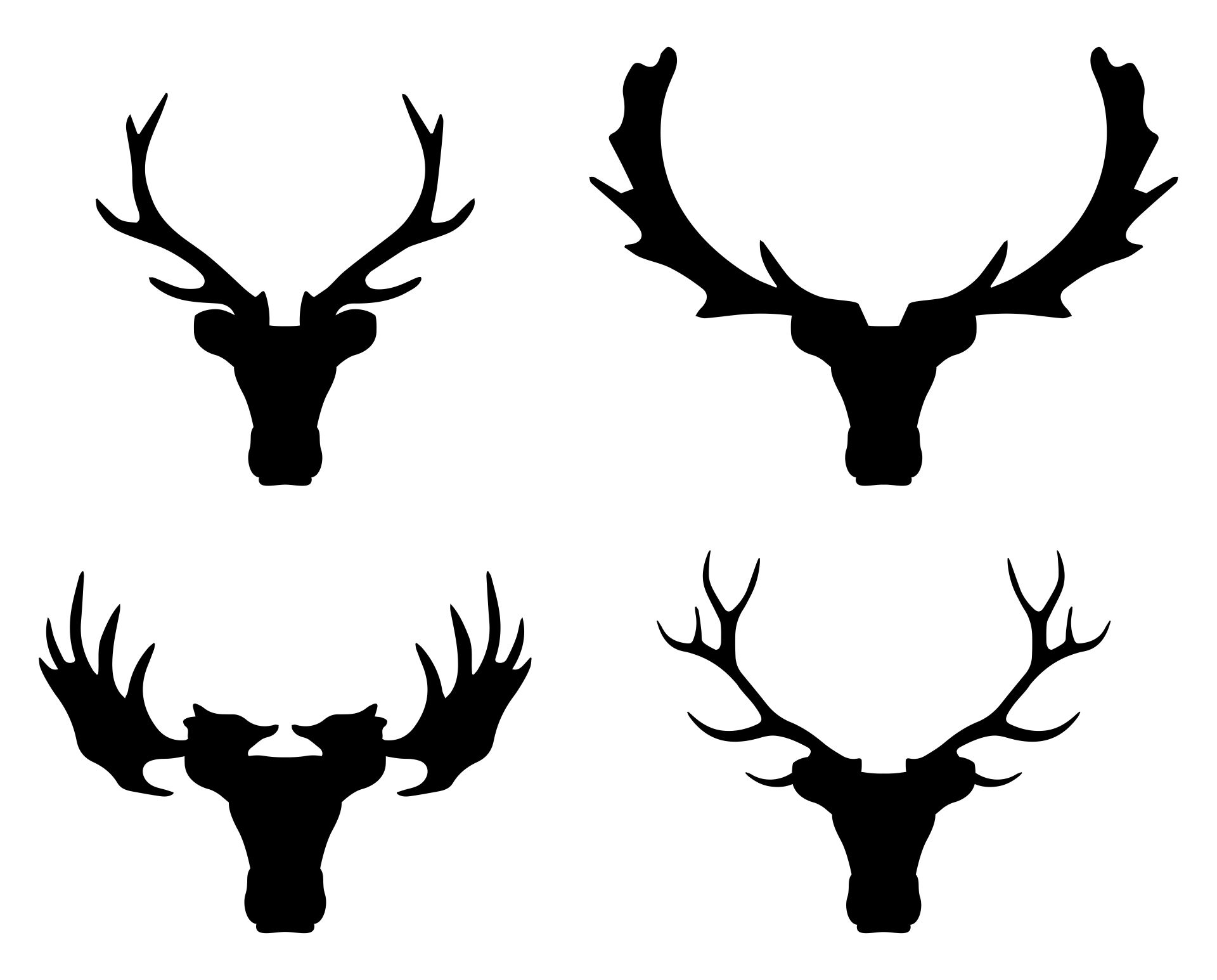 Deer Head Silhouette Printable