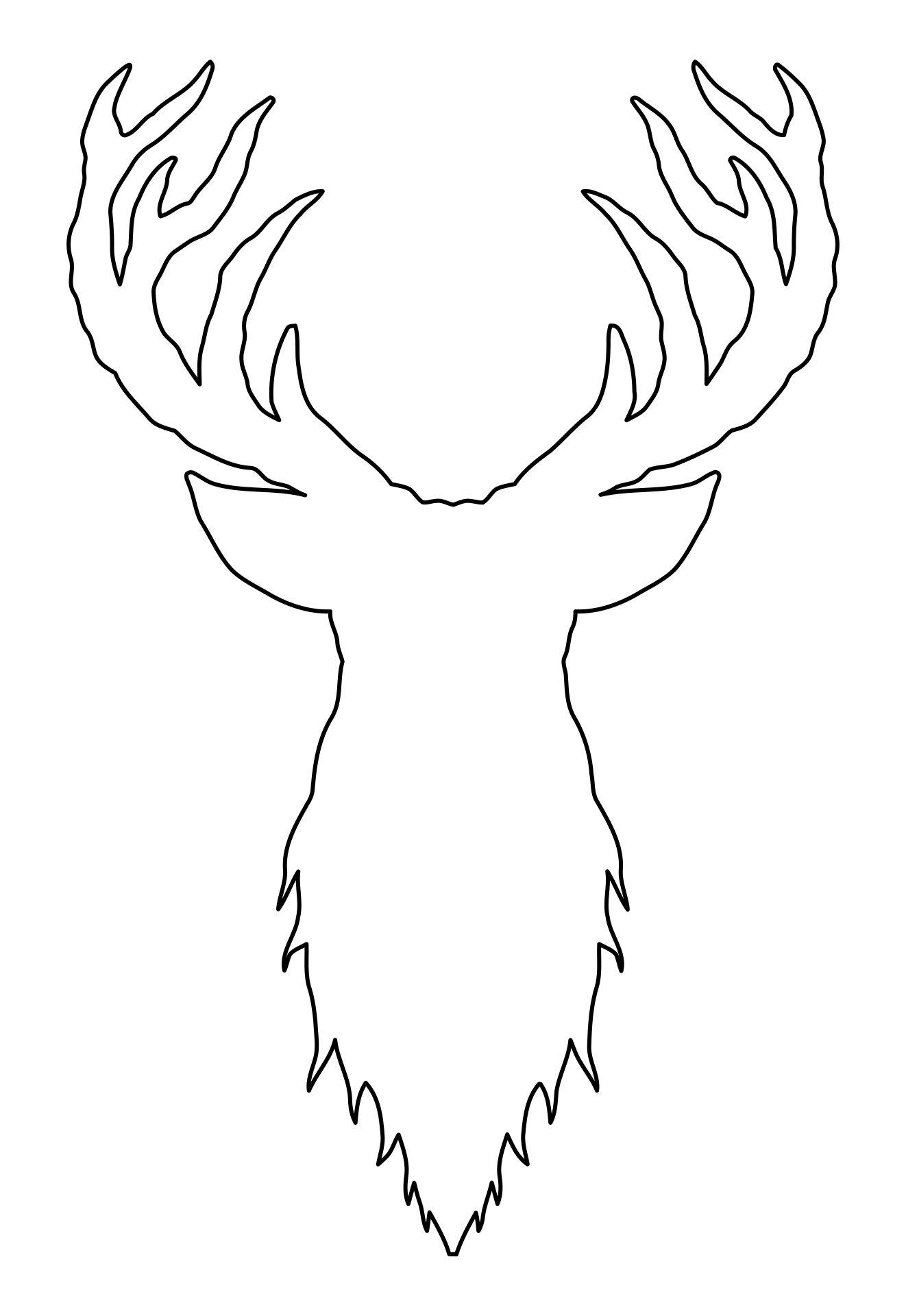 4 Images of Printable Deer Stencils
