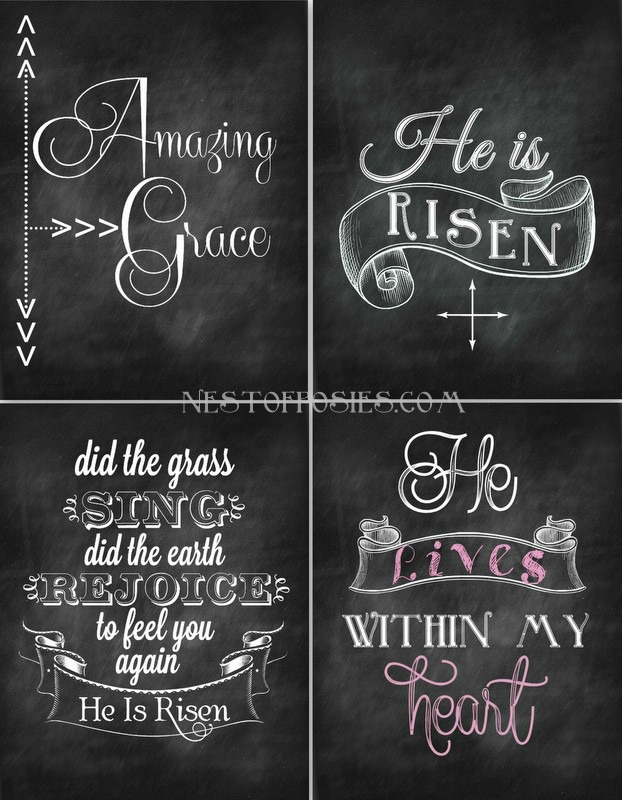 8 Images of Chalkboard Printables Nest Of Posies