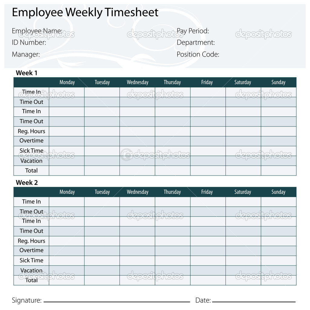 9 best images of printable employee timesheet templates free printable employee timesheet. Black Bedroom Furniture Sets. Home Design Ideas