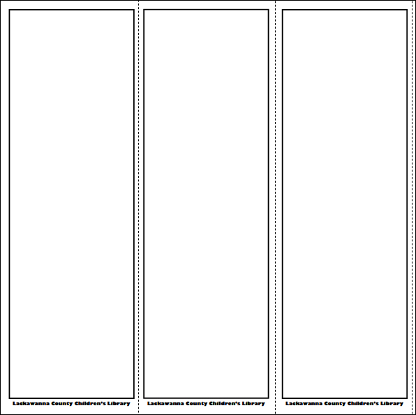 5 best images of blank printable bookmarks free blank for Bookmarks templates for publisher