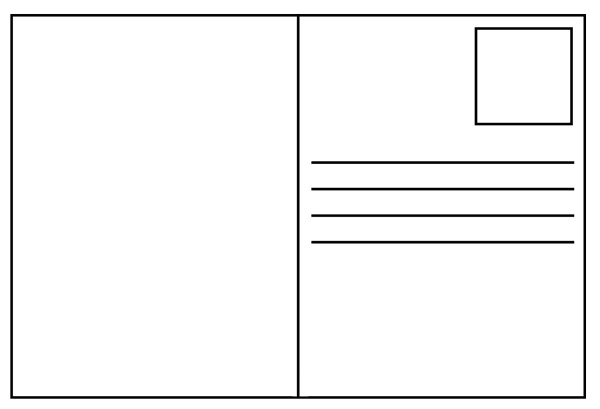 6 Images of Printable Blank Postcard Template