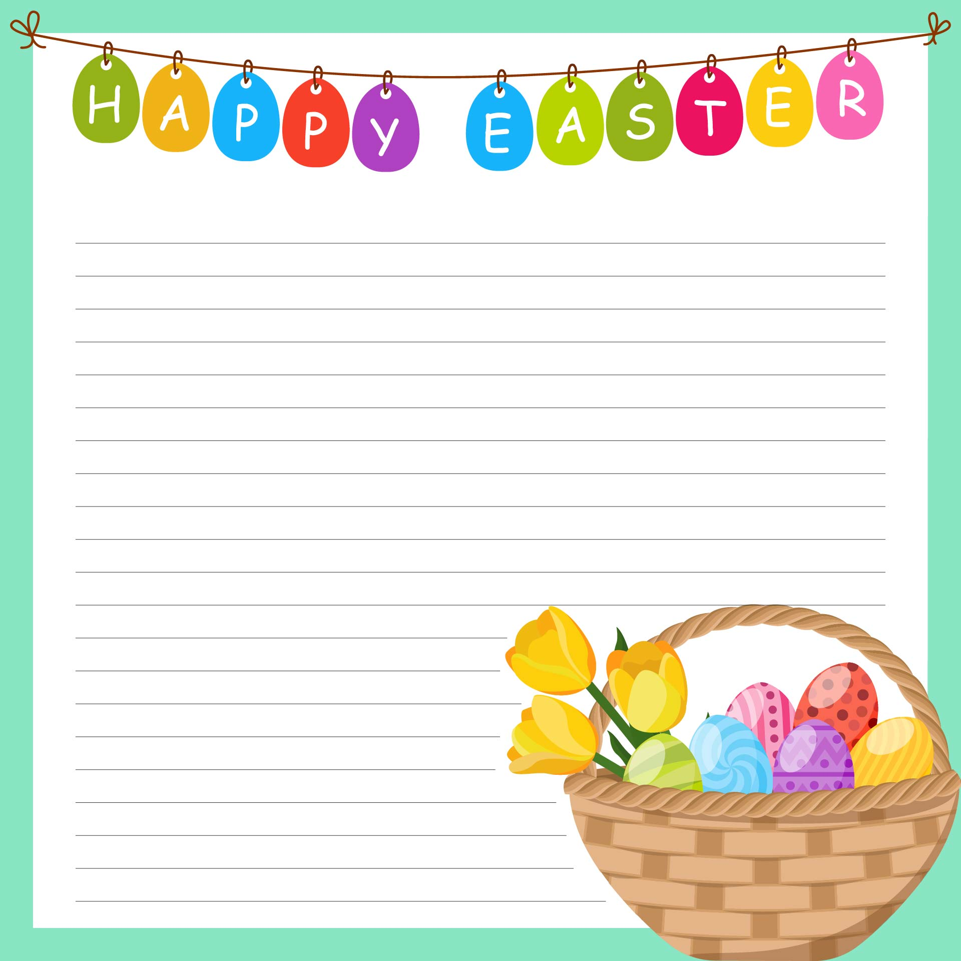 Border printable images gallery category page 11 for Letter to easter bunny template