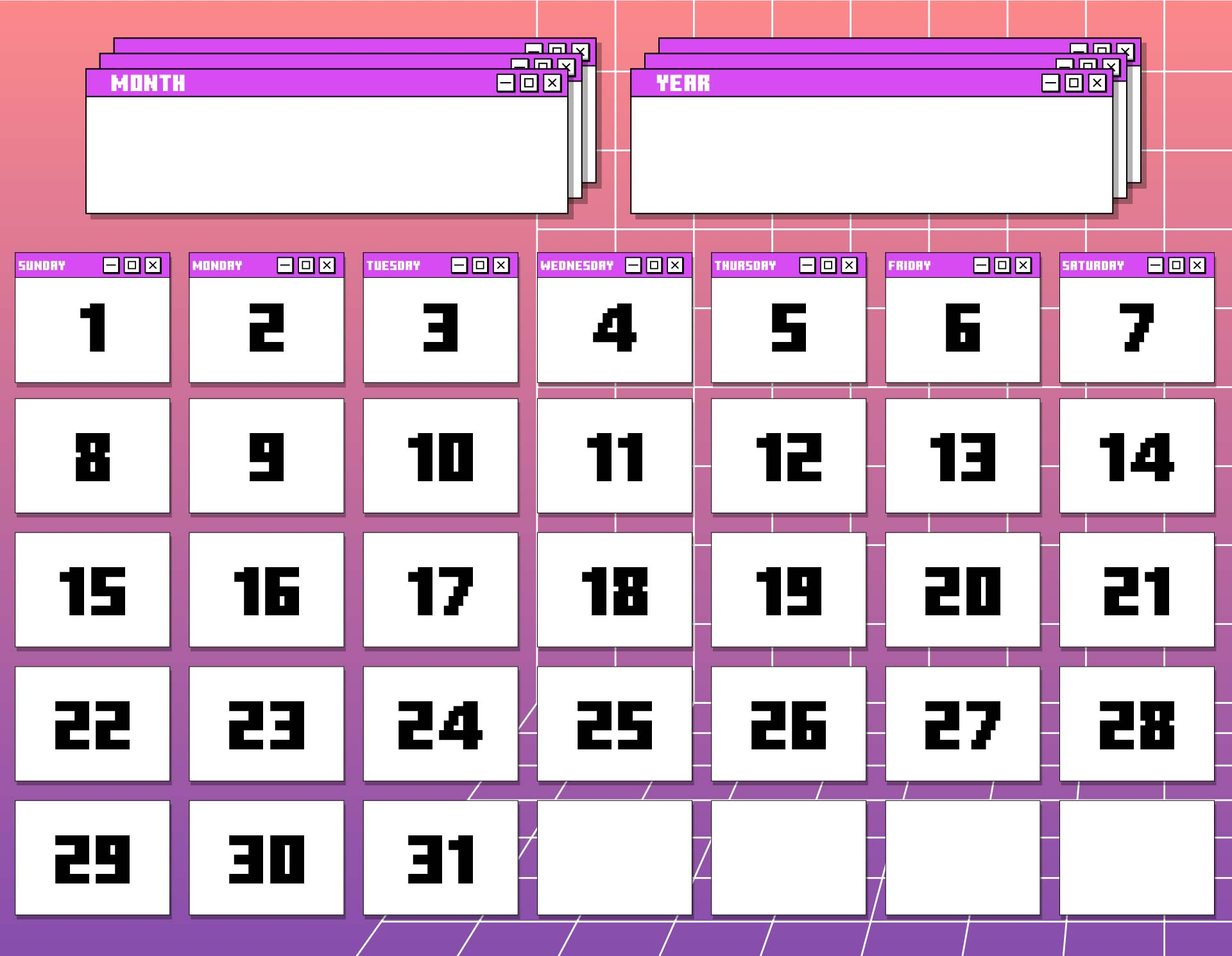 4 Images of May Printable Calendars By Month