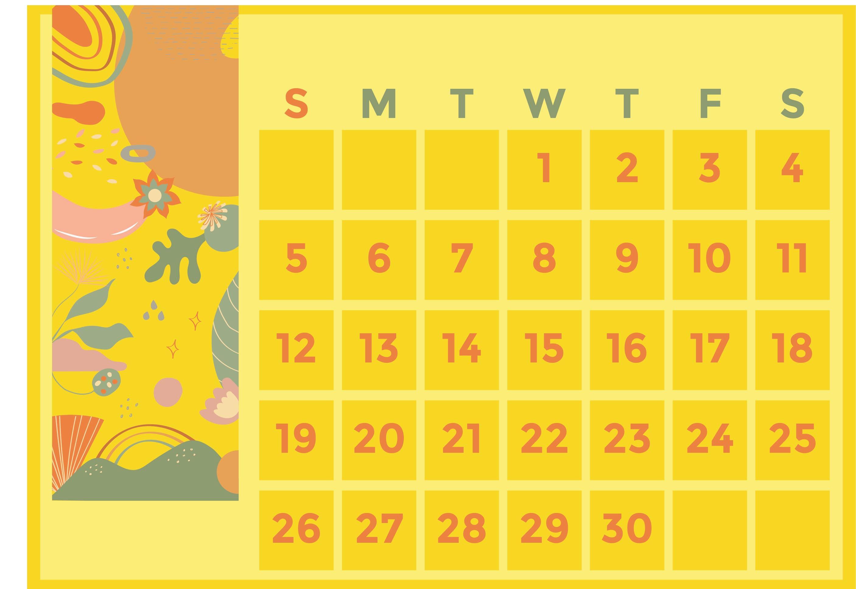 Printable 2015 Monthly Calendars 8 X 11