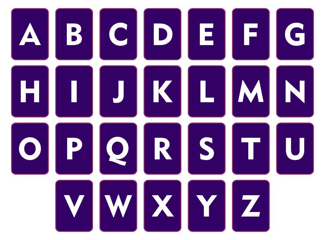 Printable Alphabet Letters Flash Cards