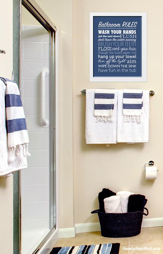 Free Printable Bathroom Rules