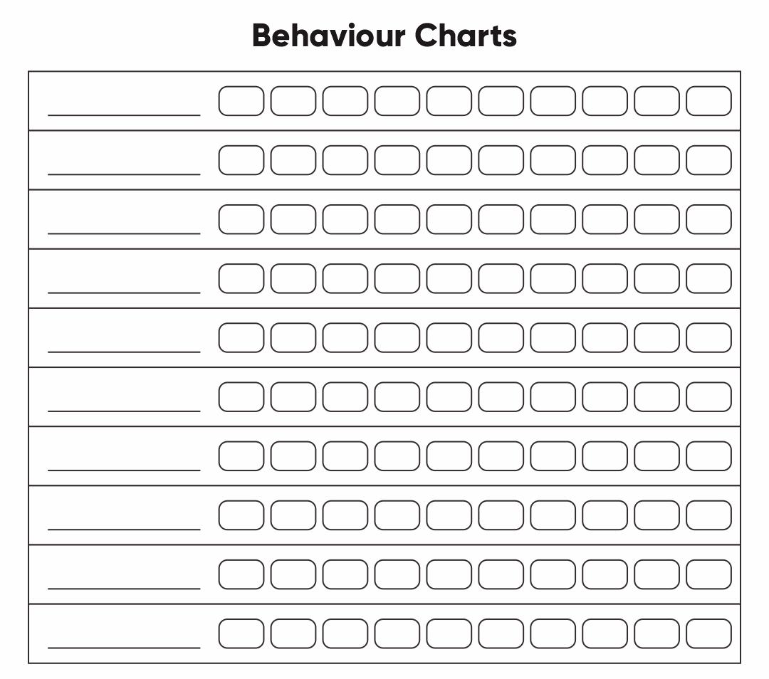 Printable Behavior Charts for Teachers