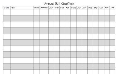 7 Images of Free Printable Annual Bill Organizer
