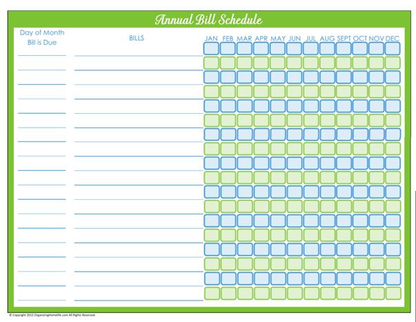 Weekly Rental Calendar Template : Best images of free printable annual bill organizer