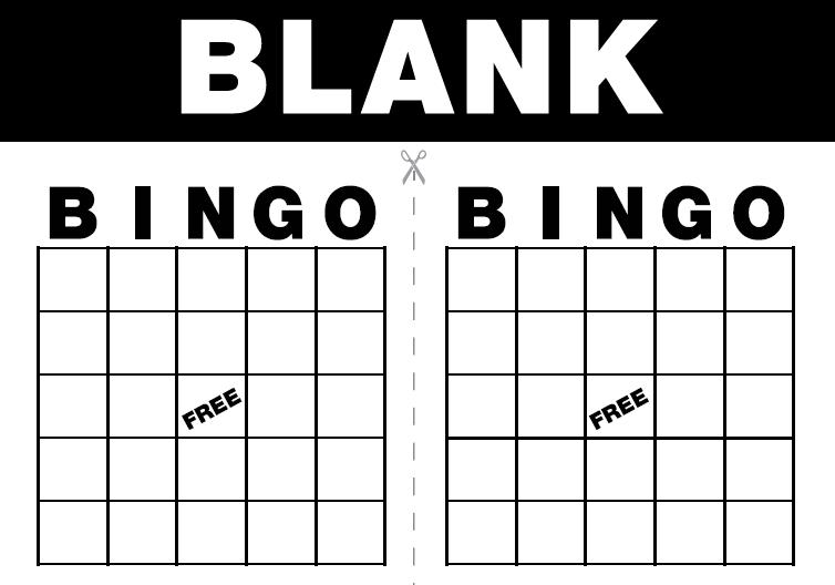 7 Images of Blank Printable Bingo Game