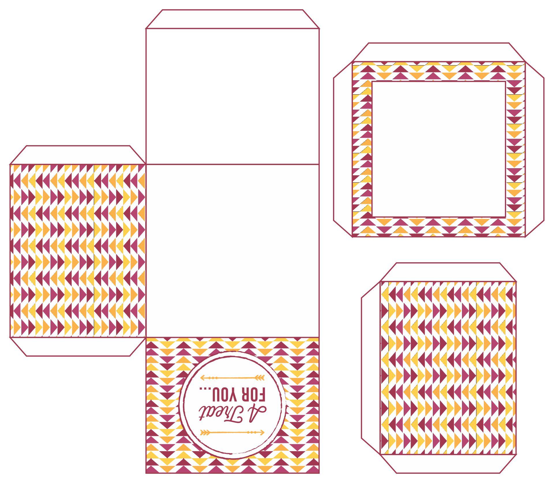 Printable Cupcake Gift Boxes