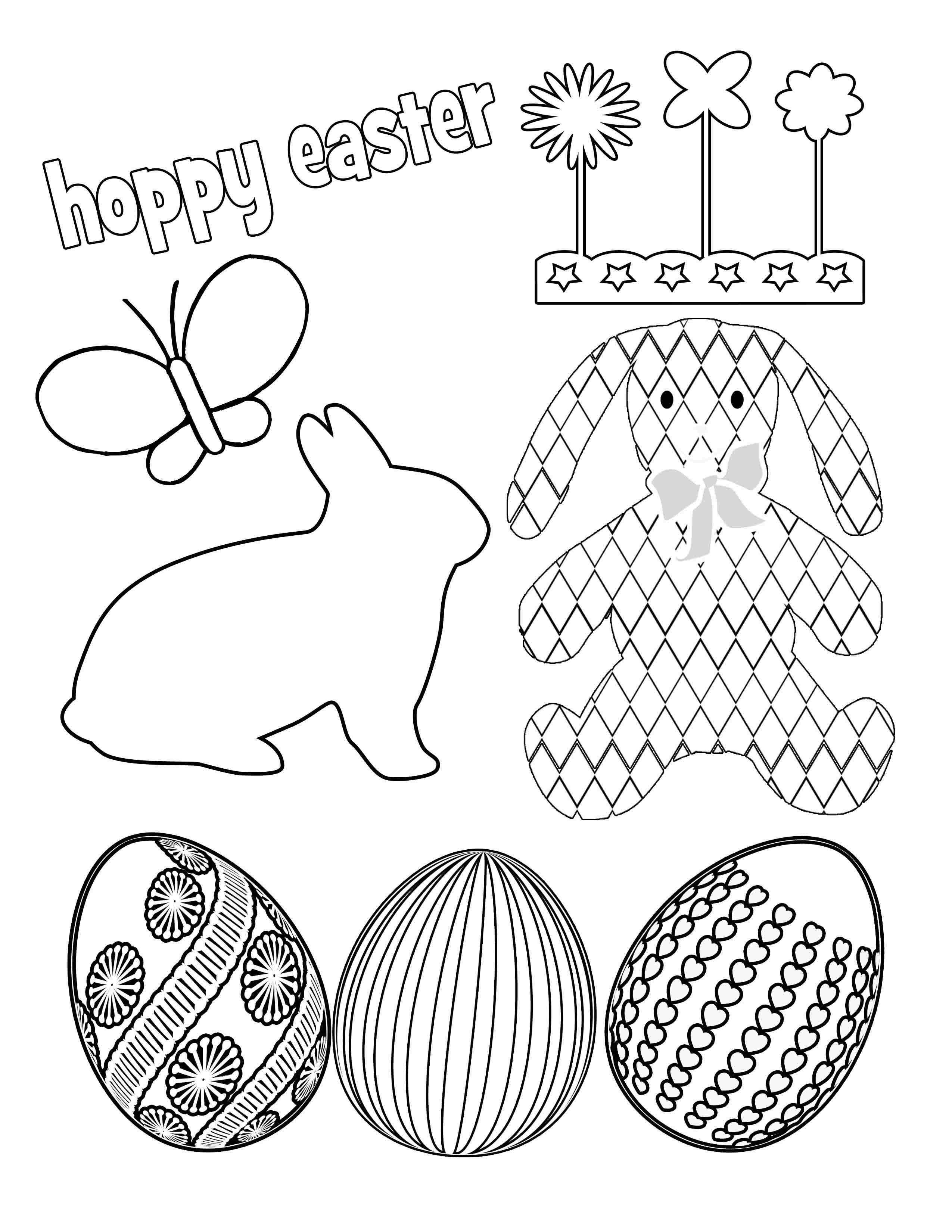 6 Images of Free Easter Printables For Adults