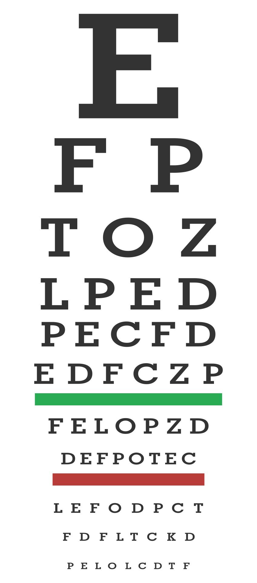 7 Best Free Printable Preschool Eye Charts Printablee Com