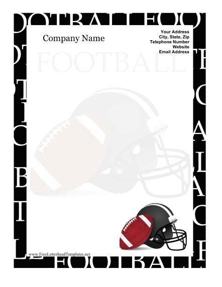 Free Printable Football Letterhead Templates