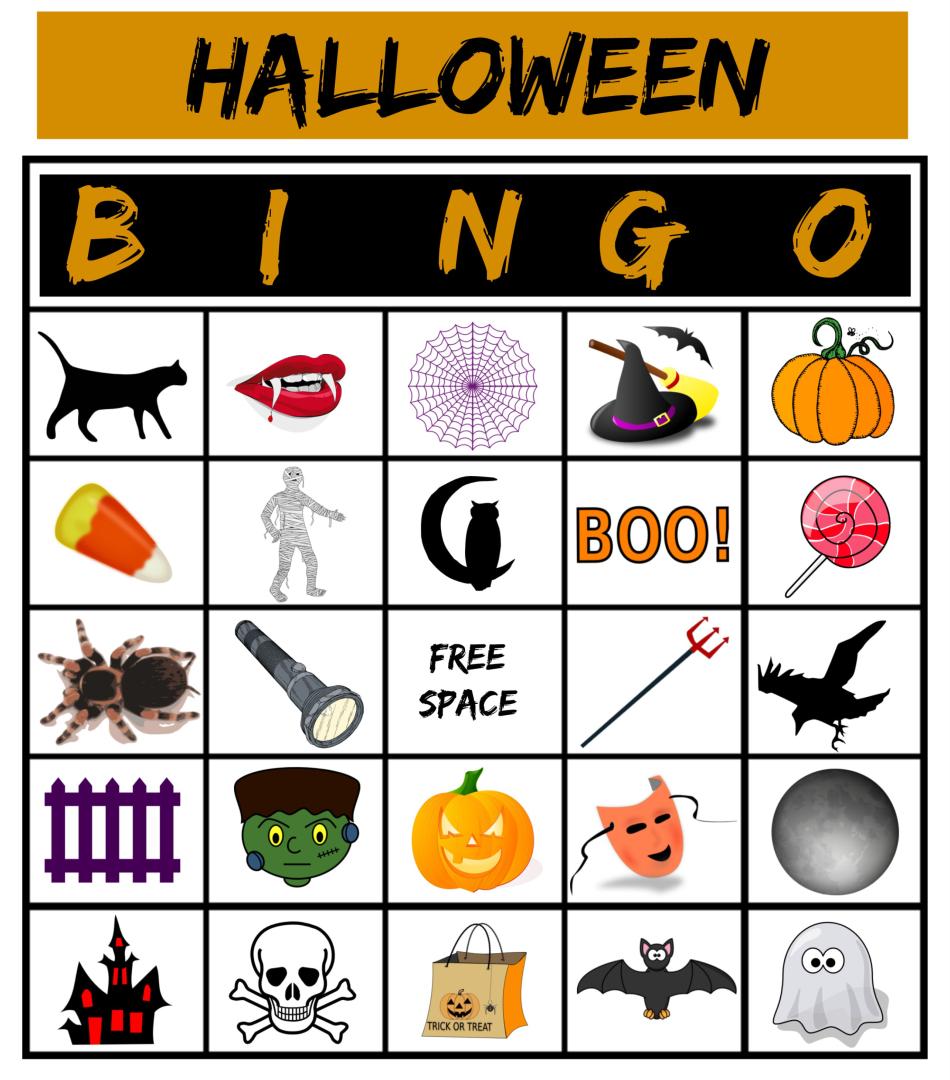 Printable Halloween Bingo Game Cards