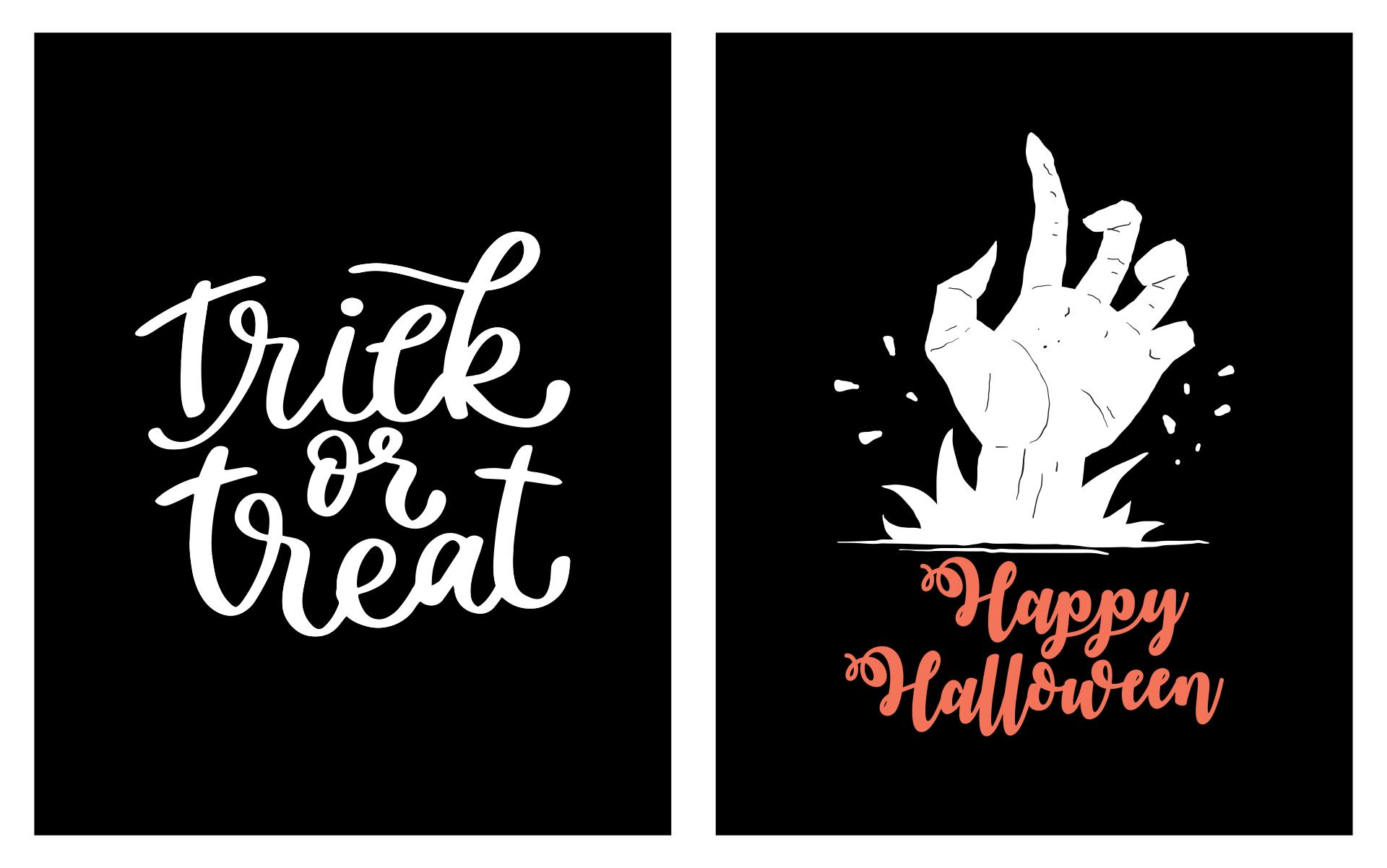 9 Images of Halloween Chalkboard Art Printable