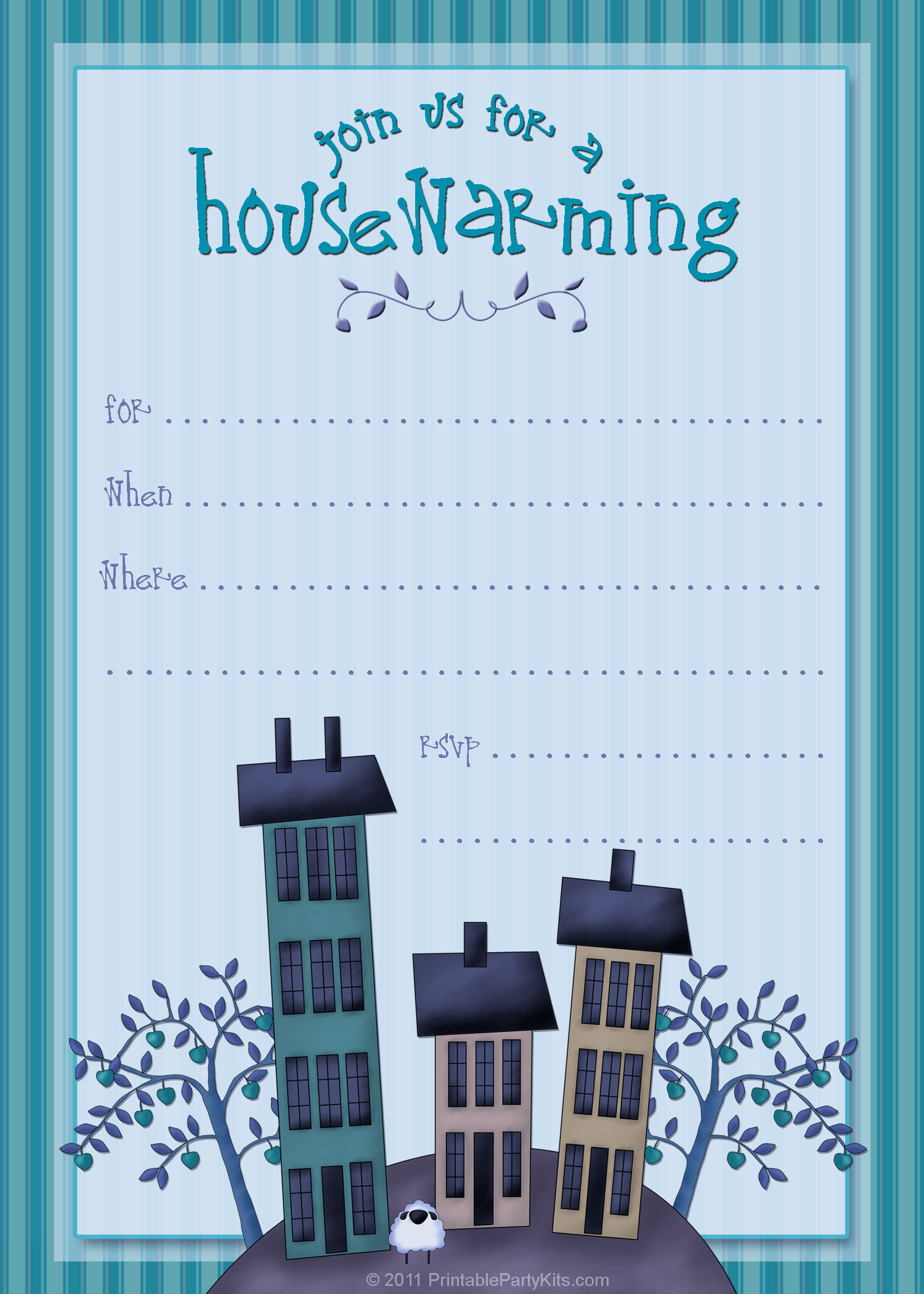 7 Images of Free Printable House Warming Invitations