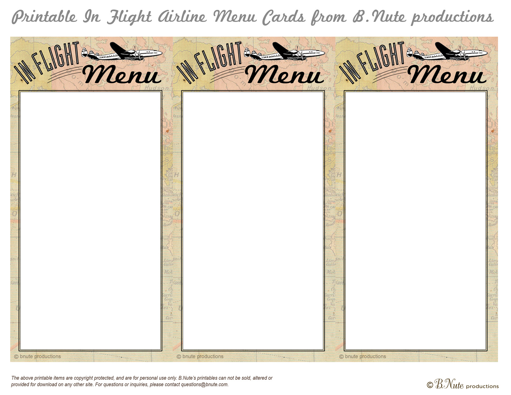 7 Best Images of Printable Menu Cards - Free Printable ...