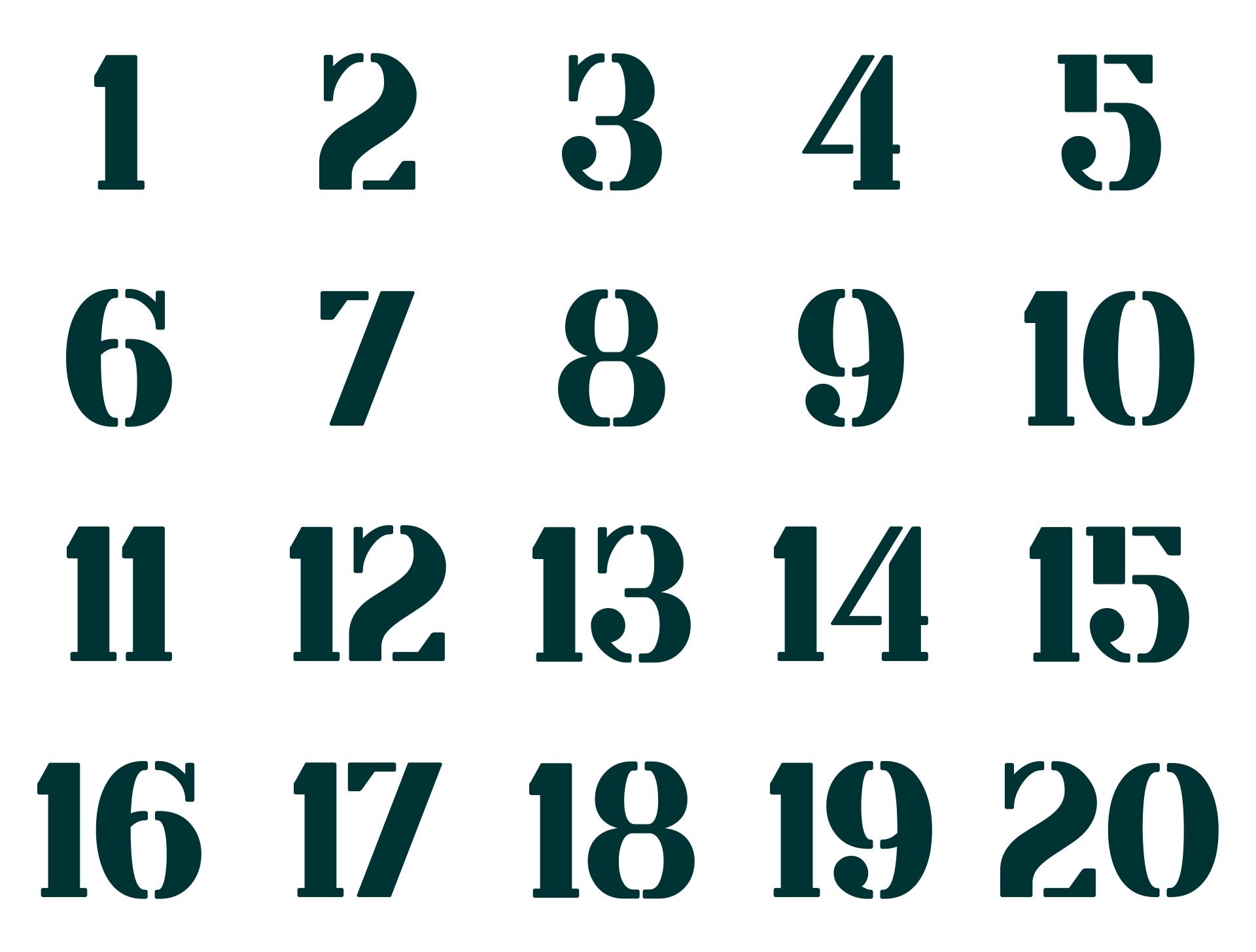 Printable Number Stencils