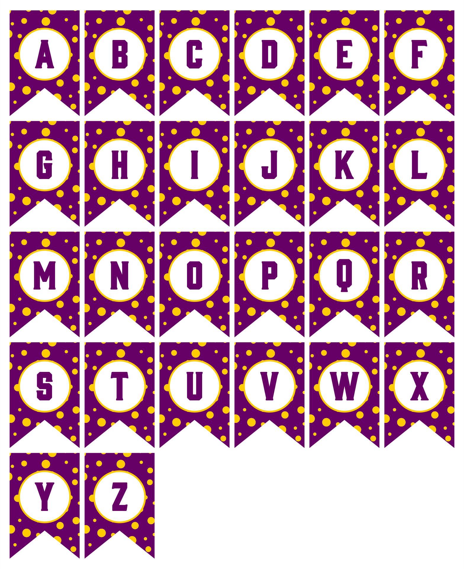 Printable Polka Dot Banner