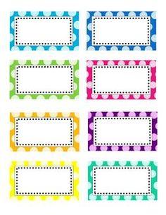 7 Images of Polka Dot Label Templates Printable