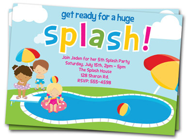 9 best images of free printable birthday invitations pool for Pool party invitations templates free