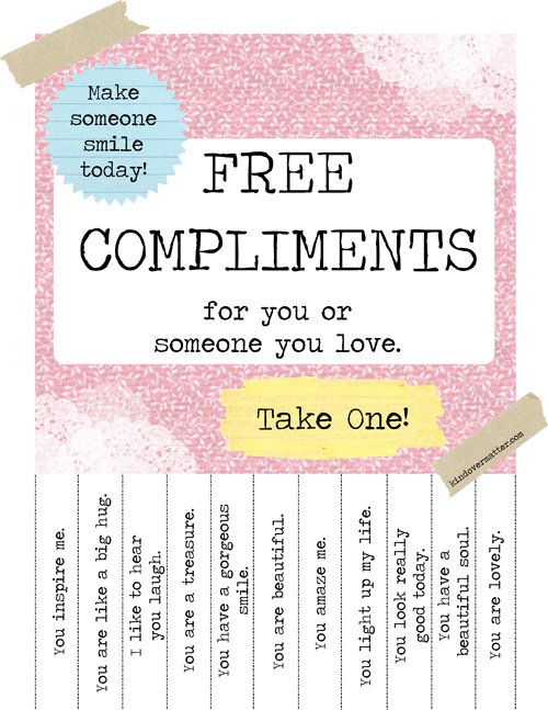Free Printable Positive Thoughts Take One