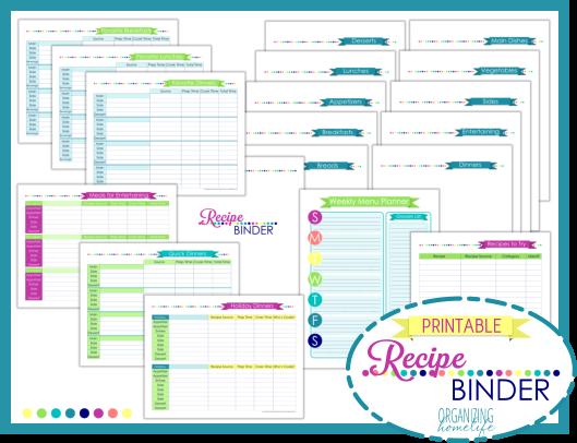 Free Printable Recipe Binder Templates