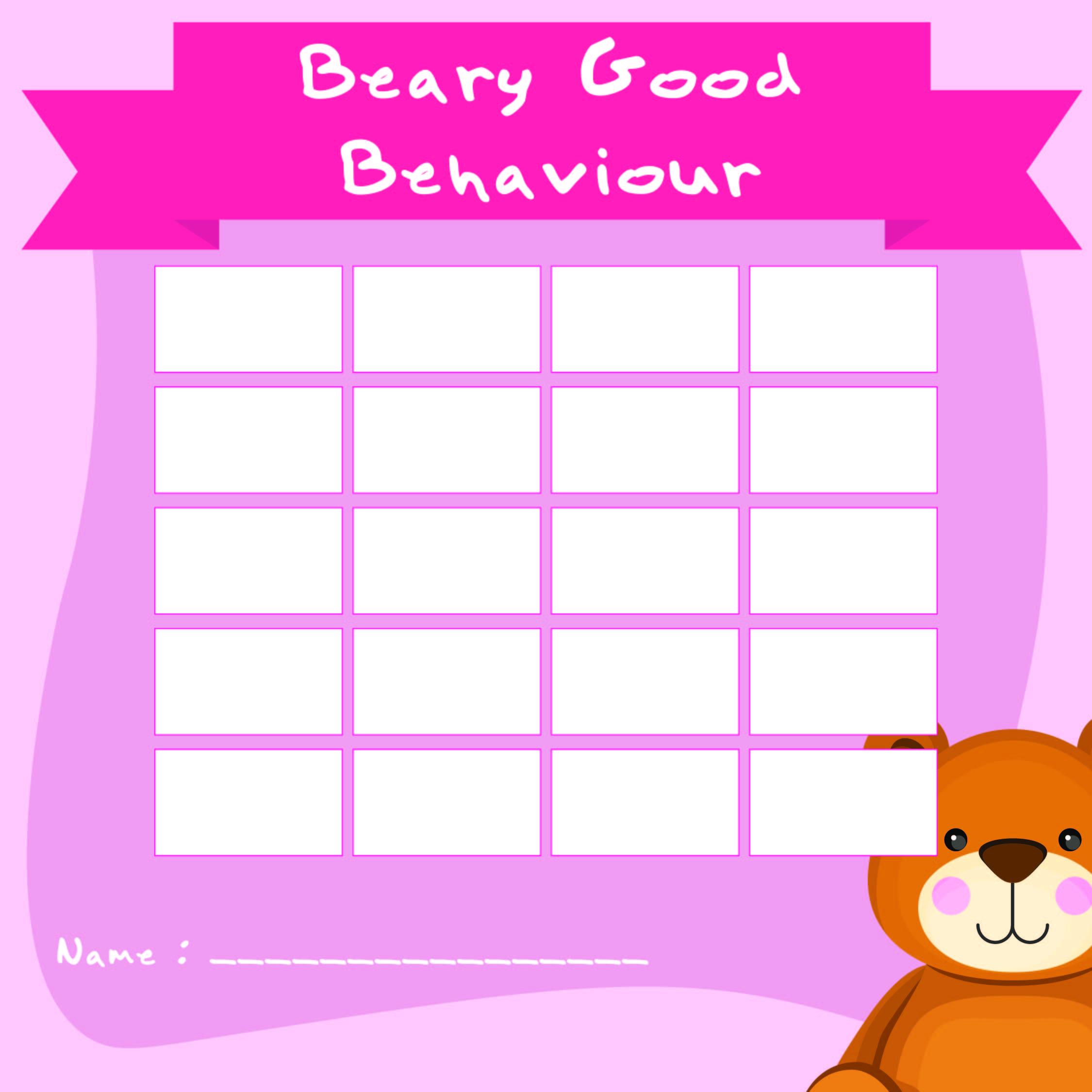 Printable Reward Charts for Good Behavior
