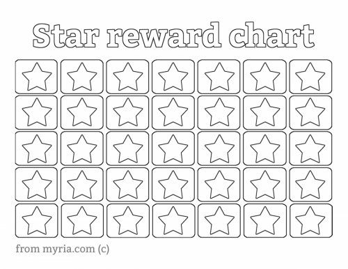 6 best images of printable reward star chart star wars for Star chart for kids template