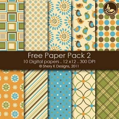 4 Images of Free Printable Digital Scrapbook Paper