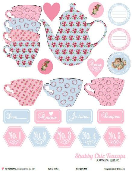 6 Images of Tea Cup Printables