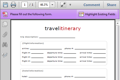 7 best images of free printable itinerary free printable for Itenary template