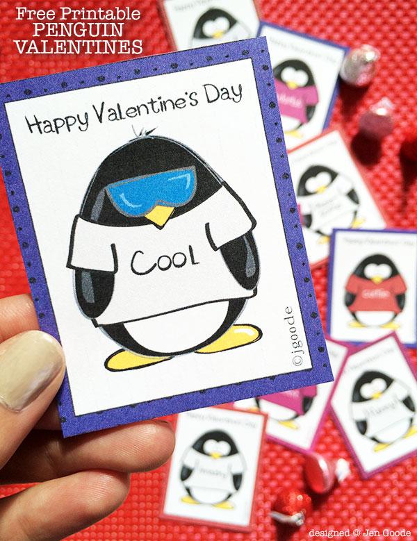 5 Images of Penguins Free Printable Valentine