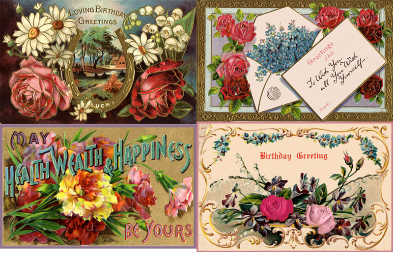 7 Images of Free Printable Vintage Birthday Cards