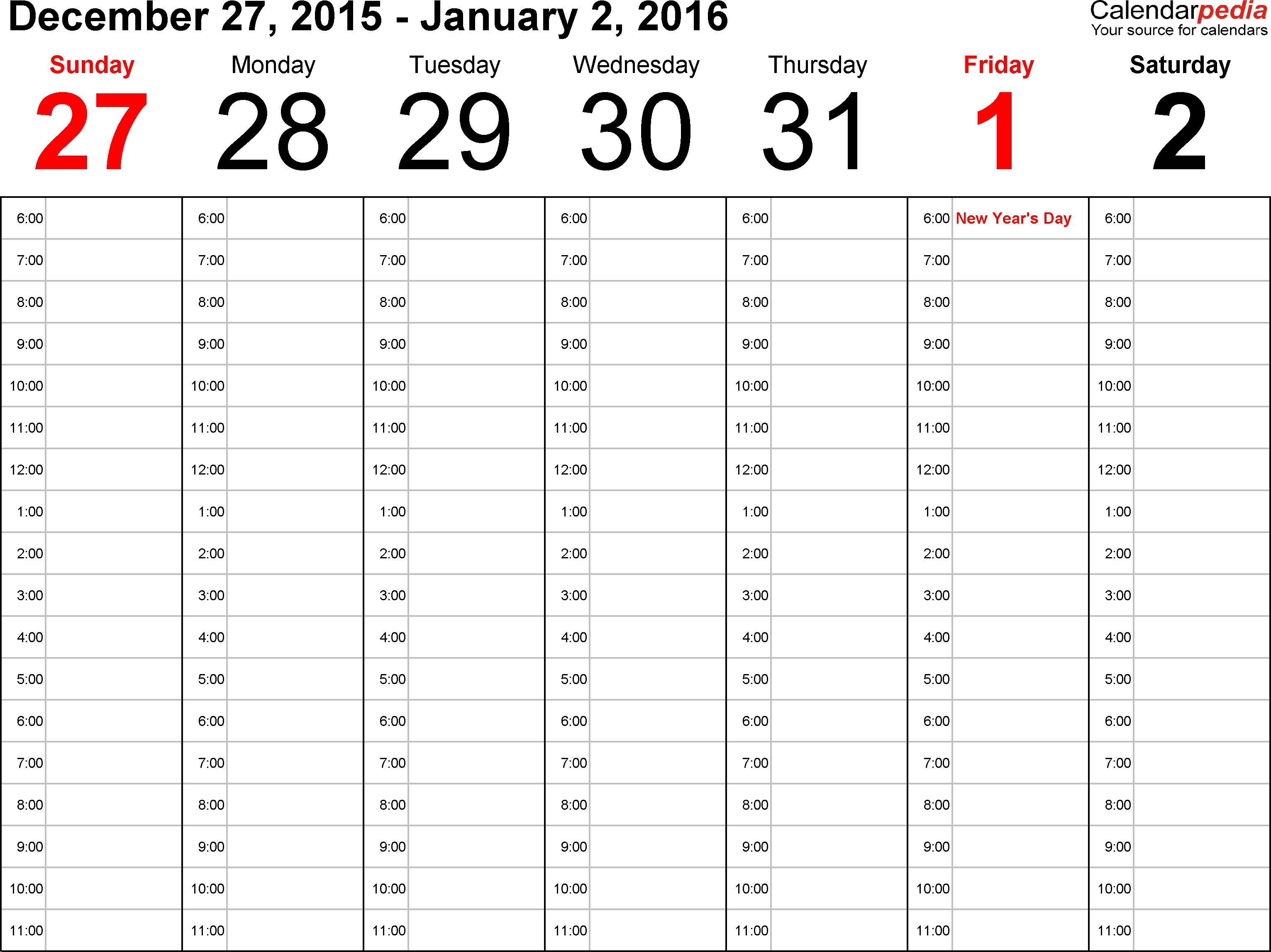 7 Images of Free Printable Weekly Appointment Calendar 2016