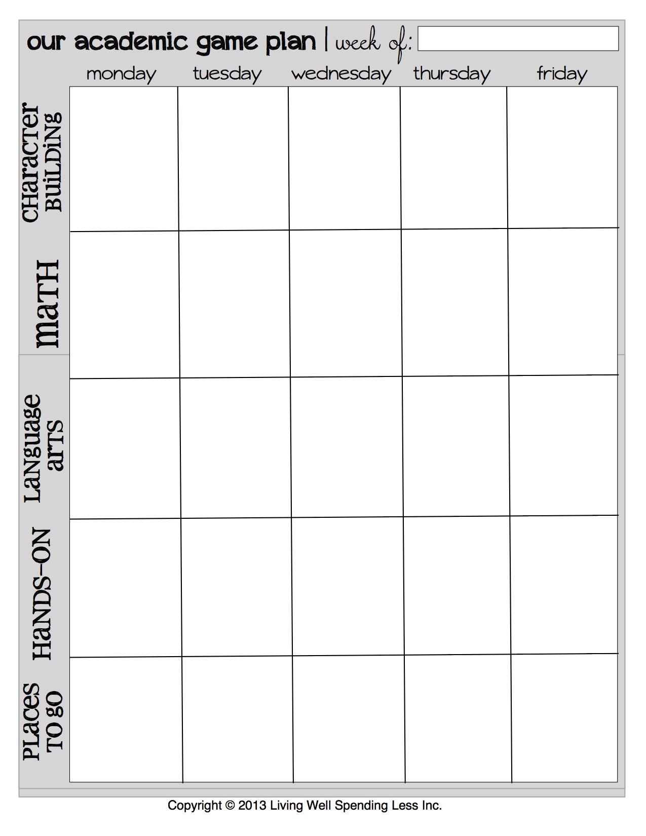 8 Best Images of Printable Weekly Teacher Planner
