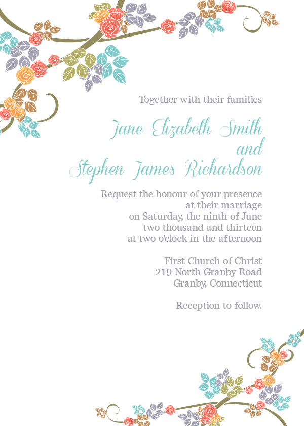 free wedding invitation border templates