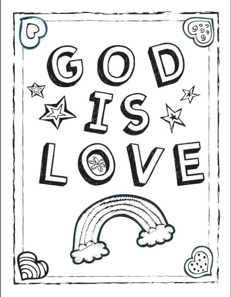 5 Images of Gods Love Coloring Pages Printable