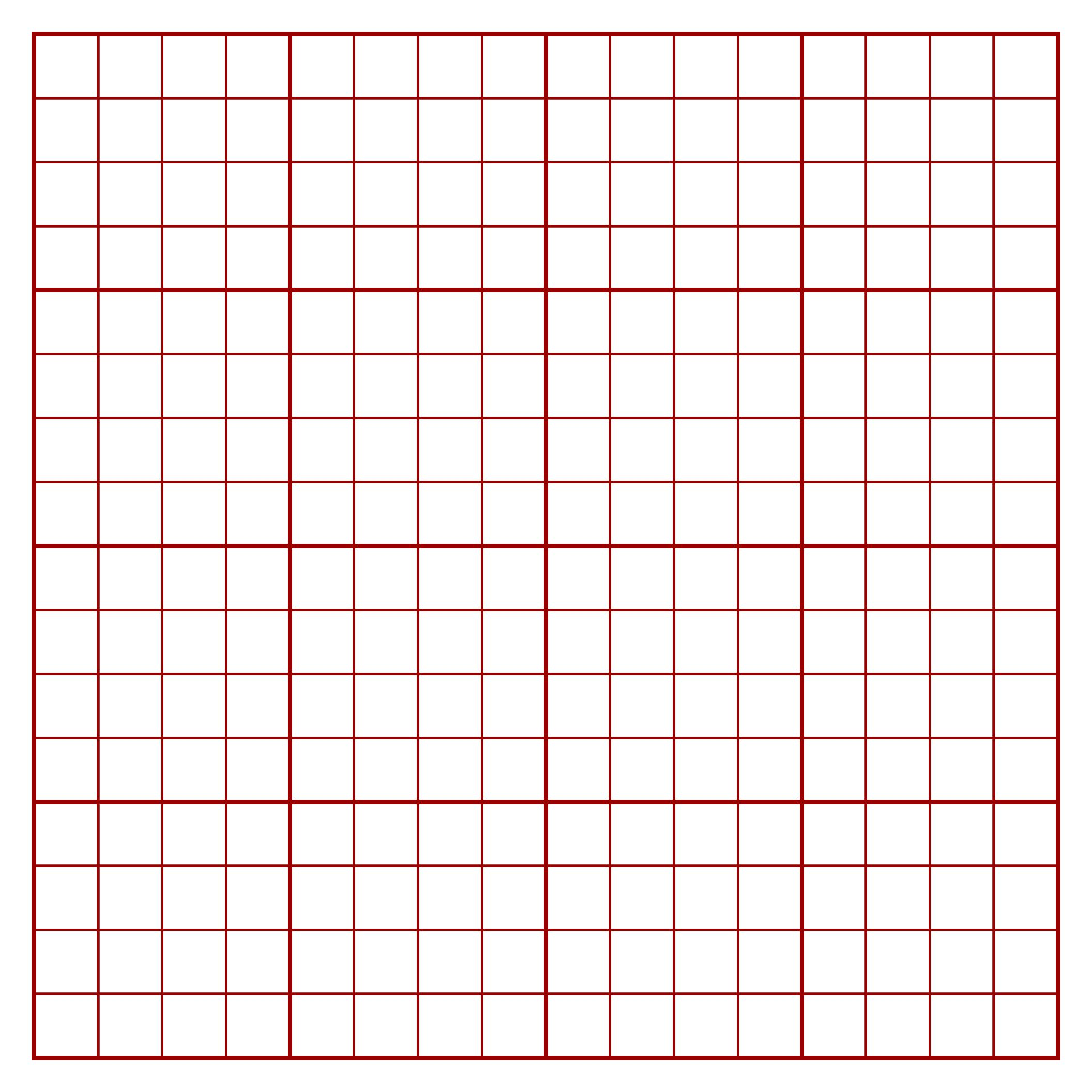 Graph Paper 4 Squares per Inch