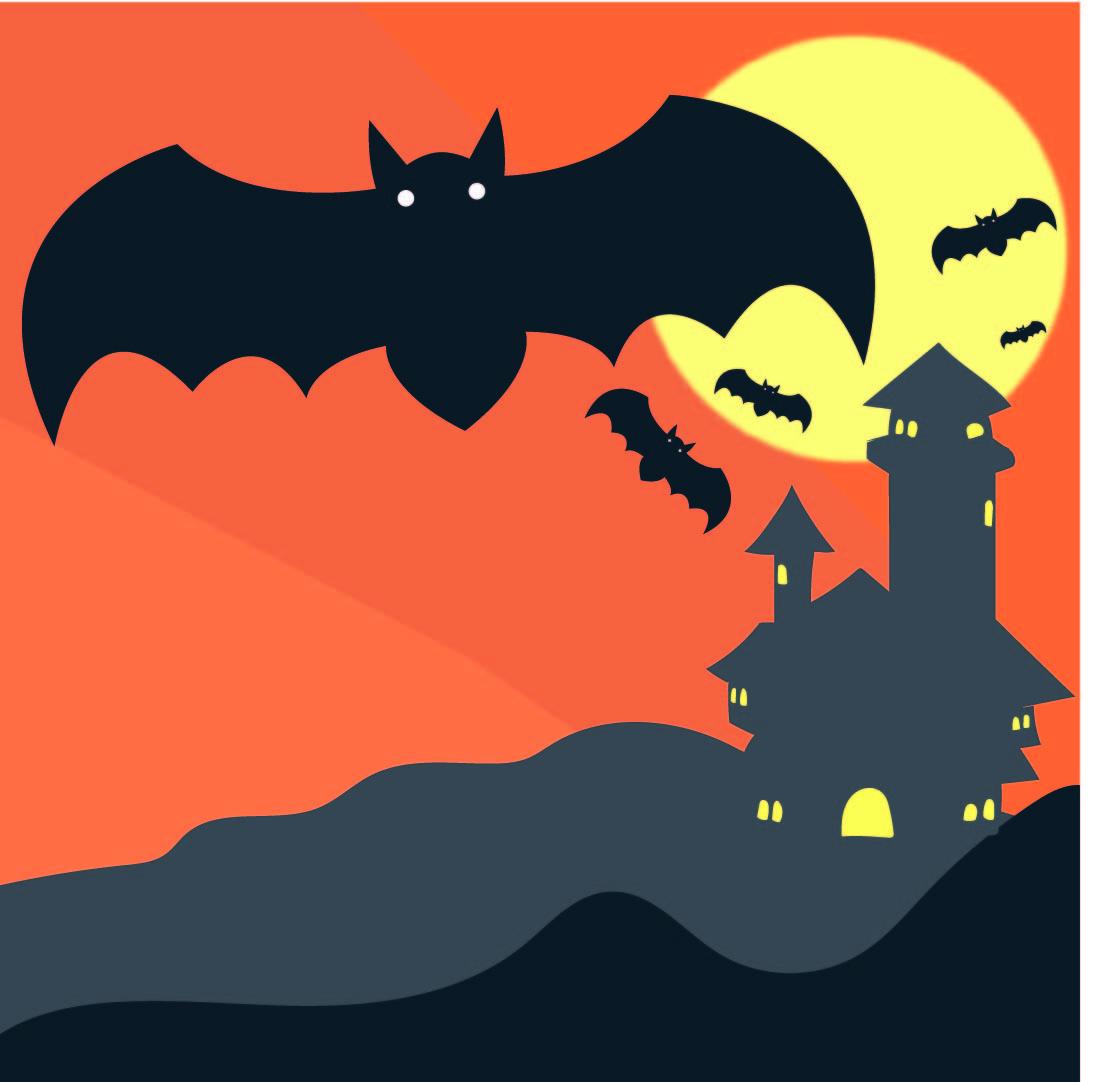 Halloween Bat Silhouette Stencil