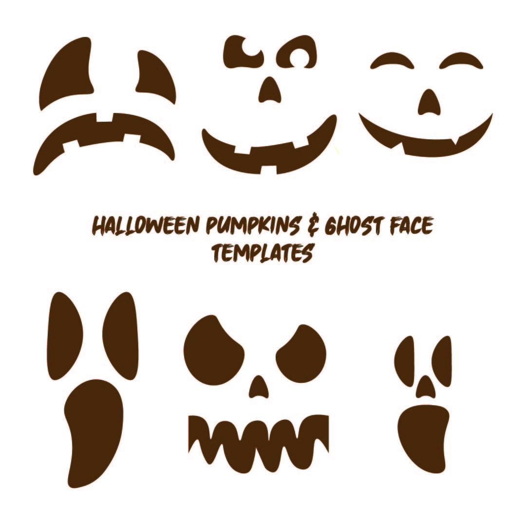 Halloween Ghost Face Template