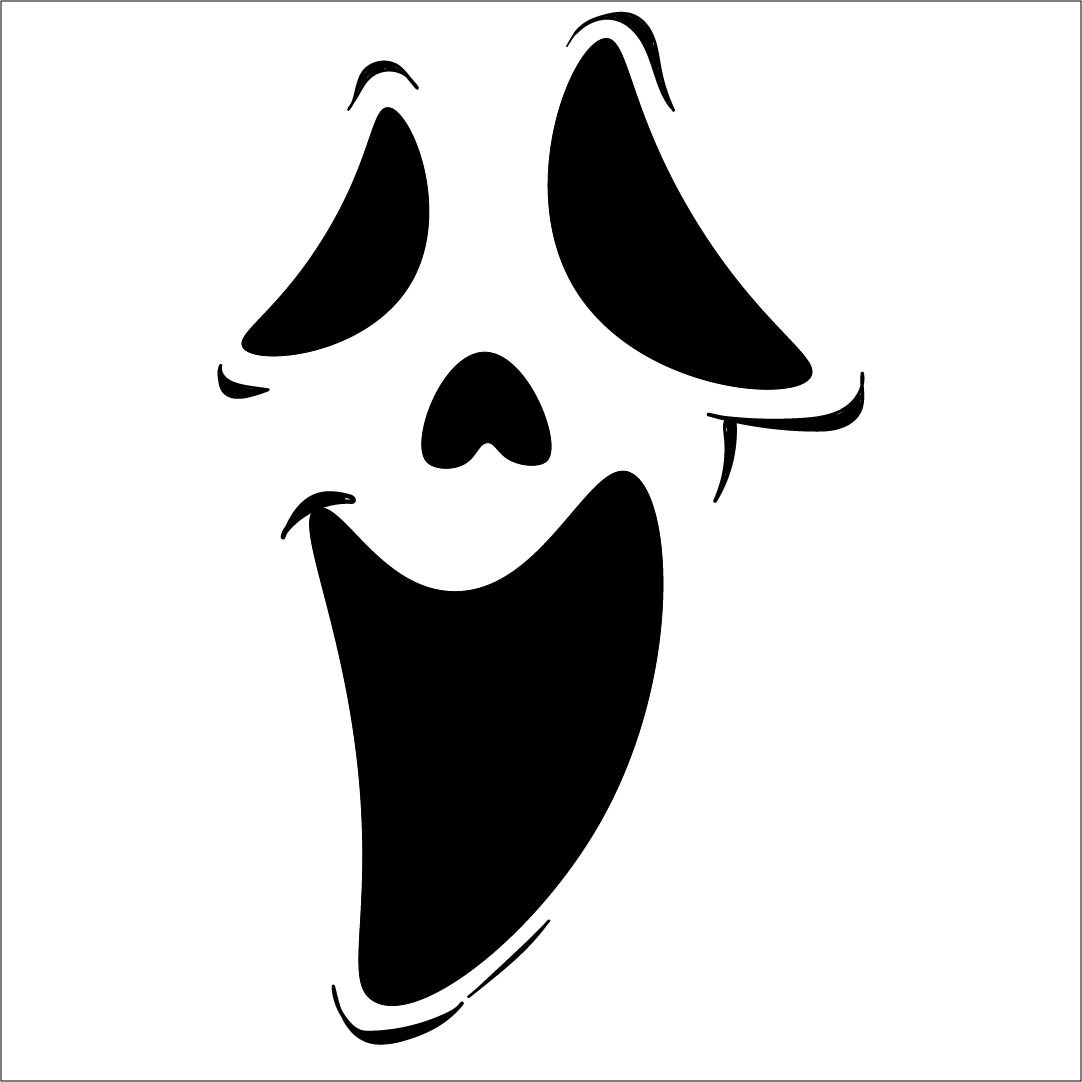 Happy Ghost Face Template Printable