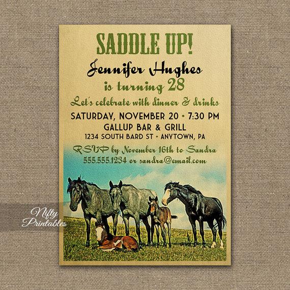Horse Birthday Invitation