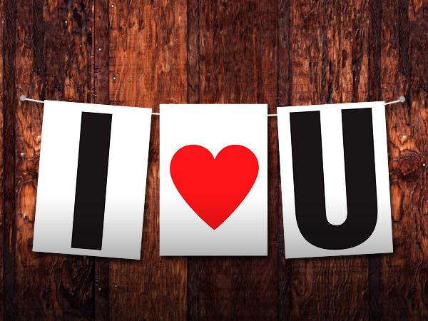 I Love You Banner Printable Free