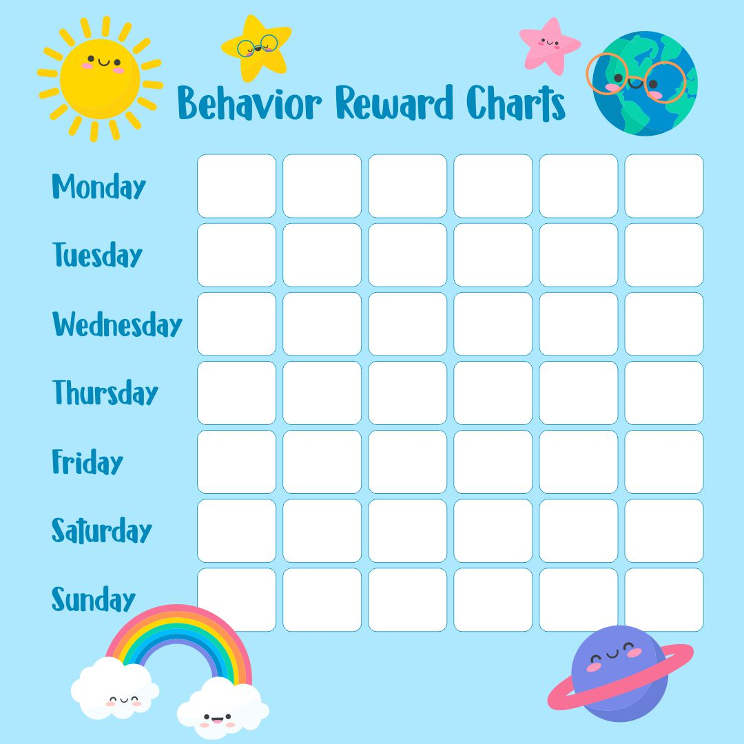 Kids Behavior Printable Reward Charts